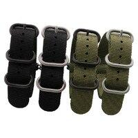 NOUVEAU Haute Qualité Bretelles Pour L'OTAN 18mm 19mm 20mm 21mm 22mm 23mm 24mm 26mm Noir Vert Sport loisirs tissé Bracelets de Montre En Nylon