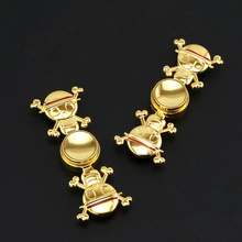 Cartoon one piece Monkey D. Luffy EDC Hand Spiner Toy Fidget Tri Spinner Metal Finger gyro For Autism ADHD Stress kids Gift OW