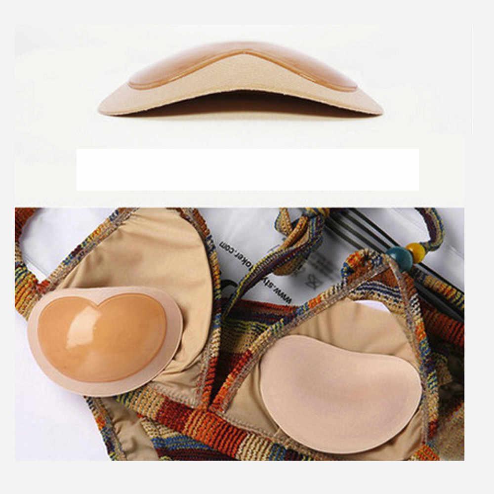 2019 almohadillas de pecho Push Up para mujer accesorios de traje de baño sujetador de silicona cubierta de pezón pegatinas parche inserciones sujetador de esponja 0624