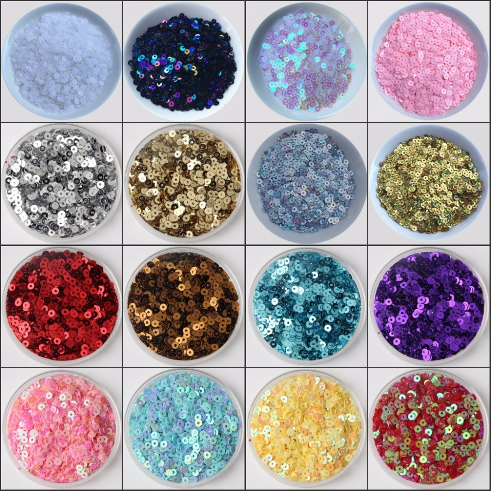 10g/pack 2mm-6mm Loose Flat Round Sequins Paillette Sewing Craft For Wedding Decoration Garment Dress Shoe Caps DIY Accessory