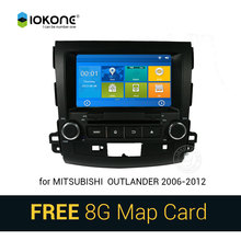 IOKONE Car DVD Video Player GPS navi Stereo multimedia for Mitsubishi Outlander 2006-2012 With Bluetooth SWC iPOD 8G SD card