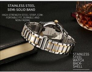 Image 5 - WWOOR שבוע שעון גברים יוקרה יום תאריך Mens שעוני יד עמיד למים גברים נירוסטה שעונים קוורץ ספורט שעון מתנת צמיד