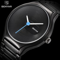 BENAYR Luxury Brand Fashion Women Watches Stainless Steel Waterproof Ladies Quartz Watch Female Dress Lovers Wristwatches