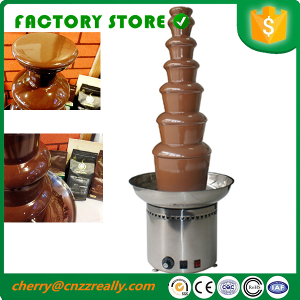 Commercial use 7 Tier Chocolate fountain melting machine with CE 110v 220v image