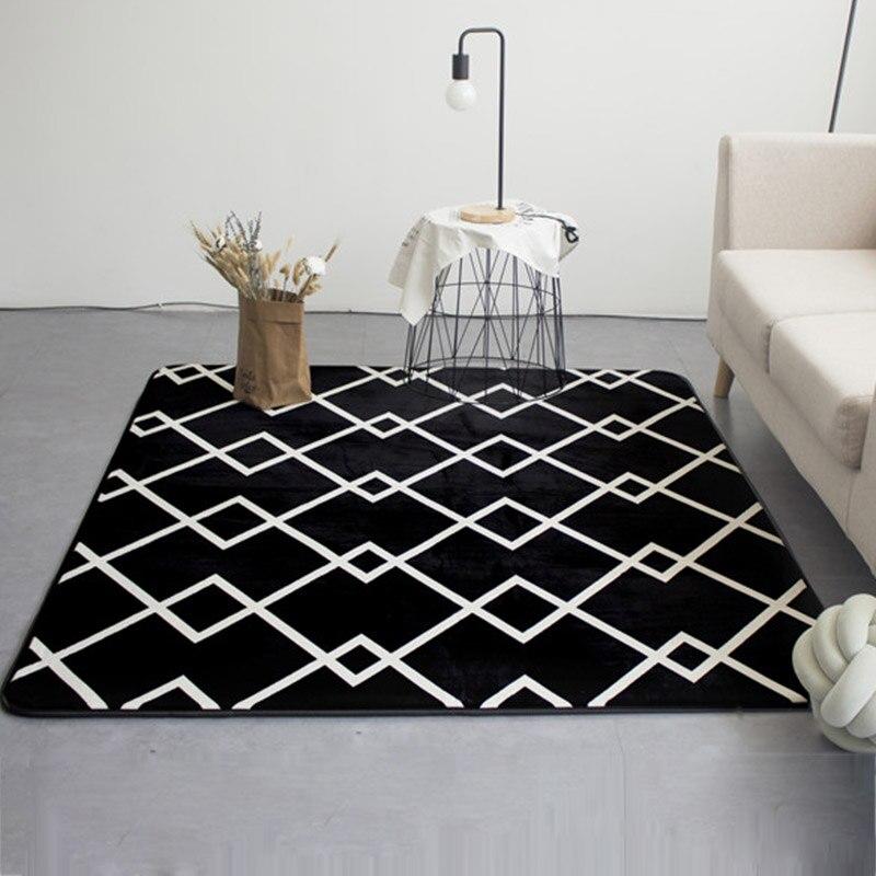 Bedroom Black Rug Glass Bedroom Door Bedroom Paint Ideas Feature Walls Bedroom Door Colors: Fashion Modern Geometric Lines Black Living Room Bedroom