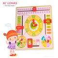 Картонный деревянный календарь - часы, познавательная игрушка для изучения сезонов / погоды / даты,  детский обучающий дневник наблюдений, детская игрушка, быстрая доставка