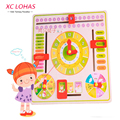 Multifunctional Cartoon Wooden Clock Toy Cognitive Calendar Season Date Children Educational Toy Early Learning Toys for Kids