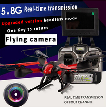 5 8G FPV rc drone with camera and lcd screen 360 degree fliping headless mode one
