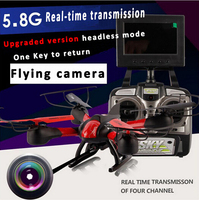 5.8G FPV rc drone with camera and lcd screen 360 degree fliping headless mode one key returen remote control Quadcopter best toy