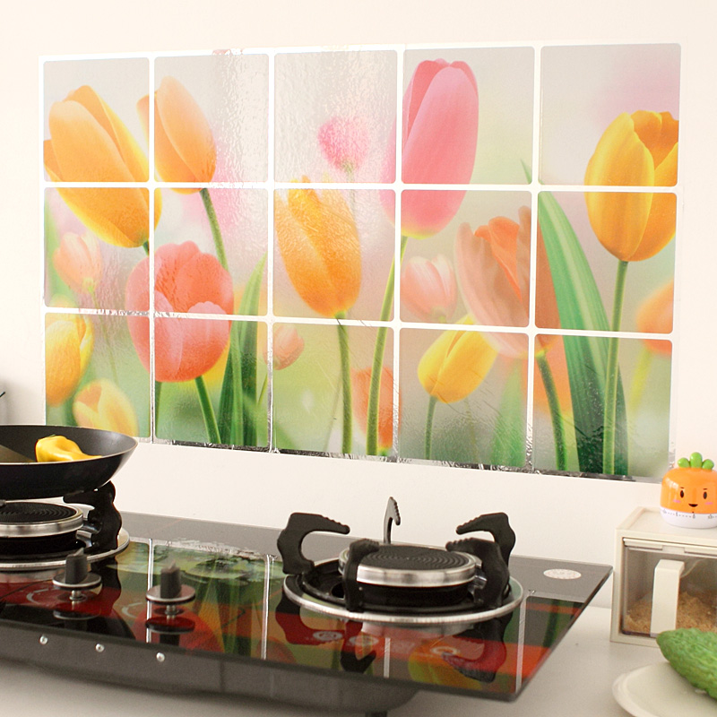Kitchen Tiles Fruits Vegetables: New Waterproof Aluminum Foil Kitchen Wall Stickers Wall