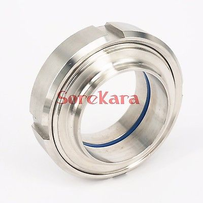 51mm 2 SS304 Stainless Steel Sanitary SMS Weld On Socket Union Set Pipe Fitting For Food Industries new 57mm tee 3 way stainless steel 304 butt weld pipe fitting ss304