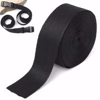 5 см x 10 м черный нейлон ткань тесьма для изготовления обвязки Belting сумка ремень
