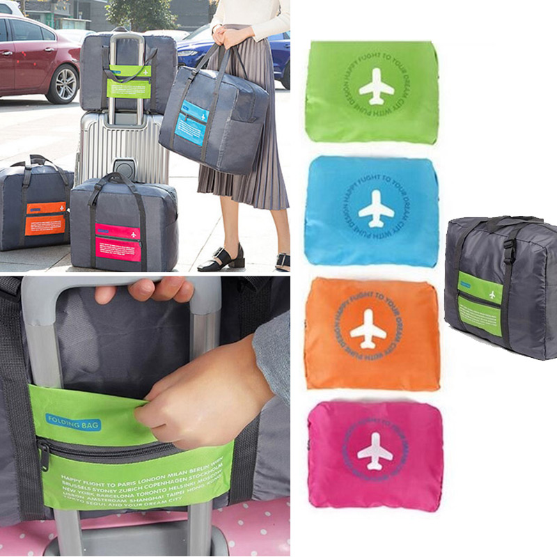Fashion New Water Proof Travel Bag Nylon Folding Unisex Luggage Travelling Handbags Duffle Bags Popular