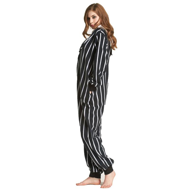 Jack Skeleton Cartoon Polar Fleece Skull Kigurumi Onesie Women Pajamas Men Adult Bodysuit Sleepwear For Winter Halloween Costume (6)