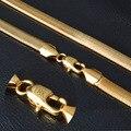 Золотое Ожерелье С 18 К Печать Настоящее Позолоченные Ожерелье Оптовая Новый модный 6 ММ 50 СМ Змея Цепи Ожерелье Изящных Ювелирных Изделий NX178