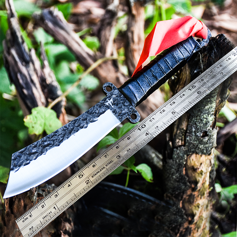 Outdoor Handmade Very Sharp Army Hunting Knifes High Hardness Fixed Blade Tactical Survival Gear Straight Knife Camping Knives  4