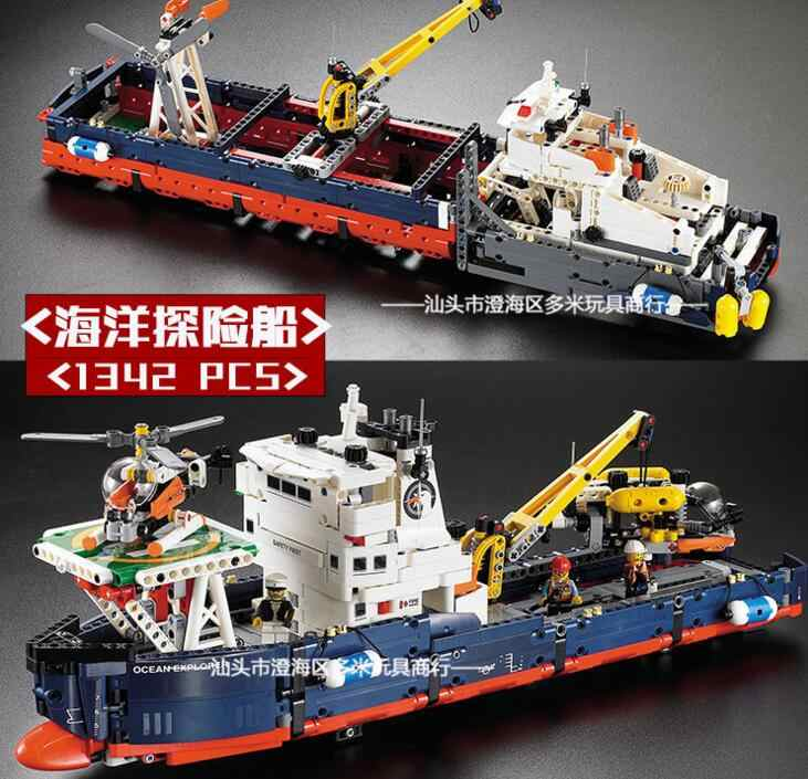 1342pcs Ocean Explorer 2 In 1 Transformable Model Building Block Sets Bricks Toys Technic 42064 Decool Compatible With Lego