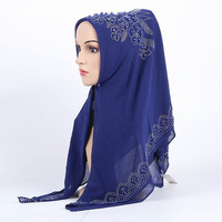 Muslim Women Silk Hijab Cap Islamic Head Wear Hat Solid Color Full coverage Female Muslim Scarves Ethnic style Ninja Hijab