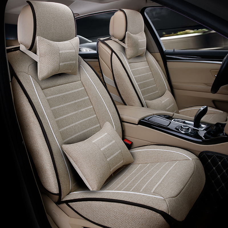 universal high quality linen car seat covers for hyundai solaris ix35 i30 ix25 elantra accent. Black Bedroom Furniture Sets. Home Design Ideas