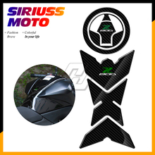 3D Carbon-look Motorcycle Tank Pad Fuel Gas Cap Protector Decals Case for Kawasaki Z800 ZR800 2013-2016