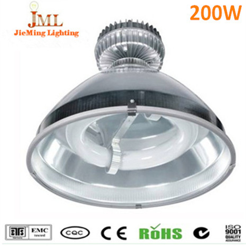 2017 Hot Sales factory lamps Low Bay high bay lamp 200W 16000lm pass CE/ROHS/FCC/CCC induction high bay DC24V DC12V lamps