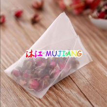 1000pcs/lot Nylon Tea Bag Heat Sealable Pyramid Tea Filters semi-transparent Empty Teabags 5.8*7cm 6.4*8cm