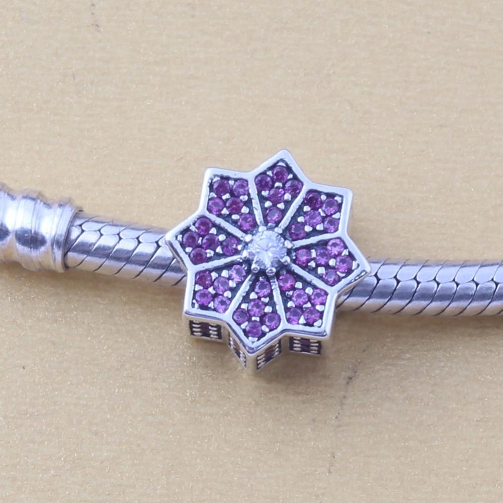 ZMZY Original 925 Sterling Silver Charm Snowflake Beads For Pandora Charms Bracelets Accessories