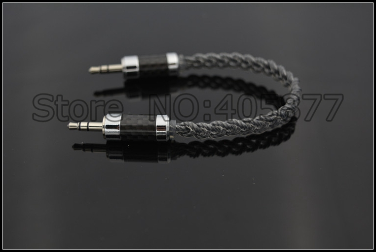 audio silver plated braid 3.5MM audio cable hifi record cable AUX Cable 3.5MM Stereo Cable