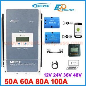 Image 1 - Epever mppt 50A 60A 80A 100A ソーラー充電コントローラ 12 v 24 v 36 v 48 v 最大 200 pv 5415AN 6415AN 8415AN 8420AN10415AN 10420AN
