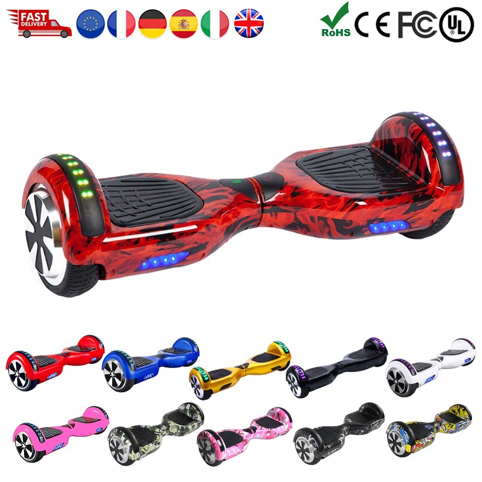 EU Stock E Scooter Hoverboard 6.5 Inch Smart Balance Wheel Oxboard Hover Board Electric Scooter Electric Skateboard Overboard|Self Balance Scooters| |  - title=