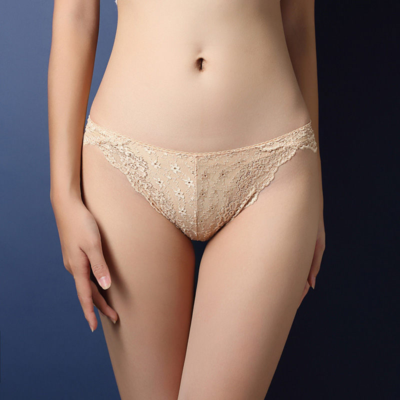 Buy Seamless Underwear Women's Briefs Thongs Panties Female G String Sexy Lace Underwear Hollow T-back Intimates Bum Lift Knickers