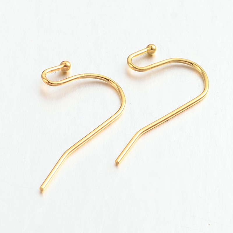 50pcs 316L Stainless Steel Golden Plated Earrings Hook Jewelry Making DIY Findings Accessory Design Wholesale Lots Discount