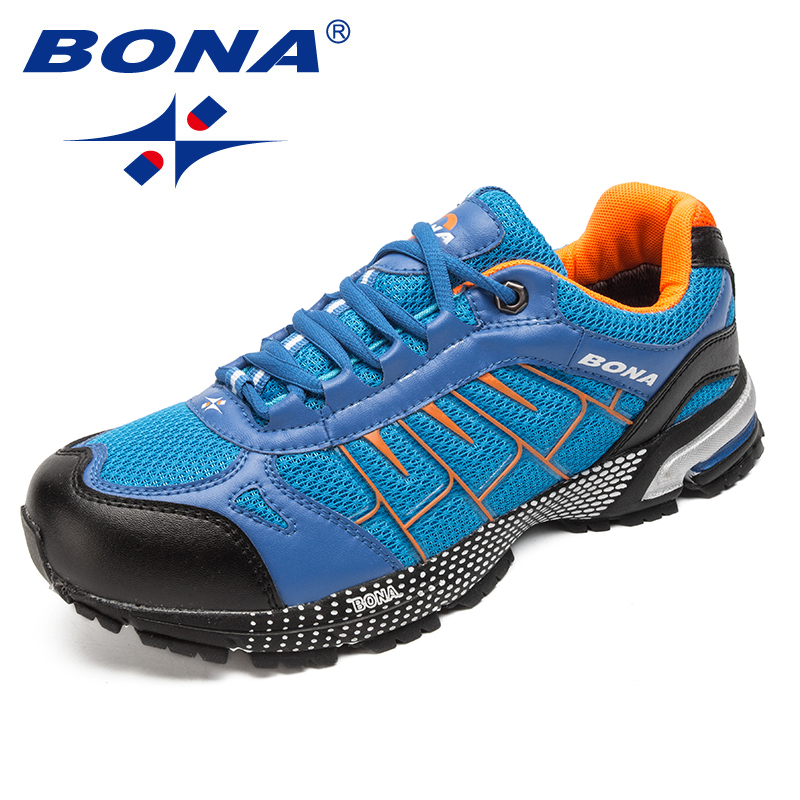 BONA New Classics Style Men Running Shoes Mesh Lace Up Jogging Sneakers Comfortable Athletic Shoes Light Soft Fast Free Shipping bona new classics style men running shoes mesh men athletic shoes lace up men outdoor sneakers shoes light soft free shipping