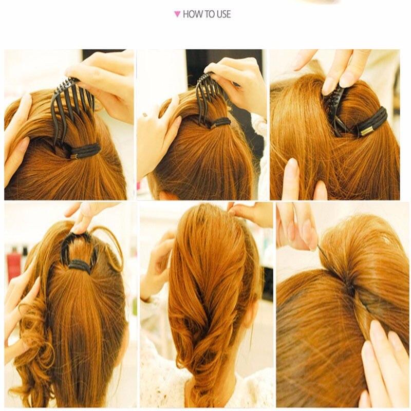HTB15P8GMpXXXXbLXXXXq6xXFXXXD Hot Ponytail Volumizing Hair Comb Insert For Women - 2 Colors