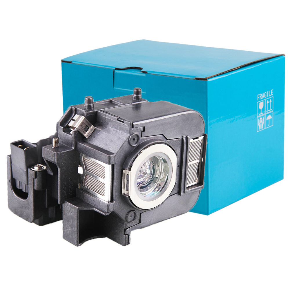 V13H010L50 Projector Lamp With Housing For Epson Powerlite 85, 825, 826W, EB-824, EB-824H, EB-825H, EB-826WH, EB-84H awo compatible projector lamp elplp52 v13h010l52 replacement with housing for epson powerlite pro z8000wunl z8050wnl eb z8000wu