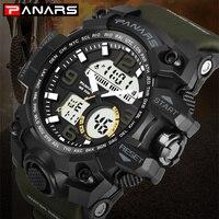 PANARS Digital Men Watches Sports Military Army Watch G Style Luxury S Brand Shock Waterproof Fitness Water Resistant Wristwatch