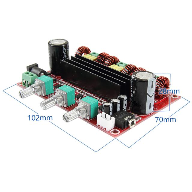 TPA3116 2.1 Digital Audio Power Amplifier Board 2*80W+100W TPA3116D2 Subwoofer Speaker Amplifiers DC12-24V amplificador Module