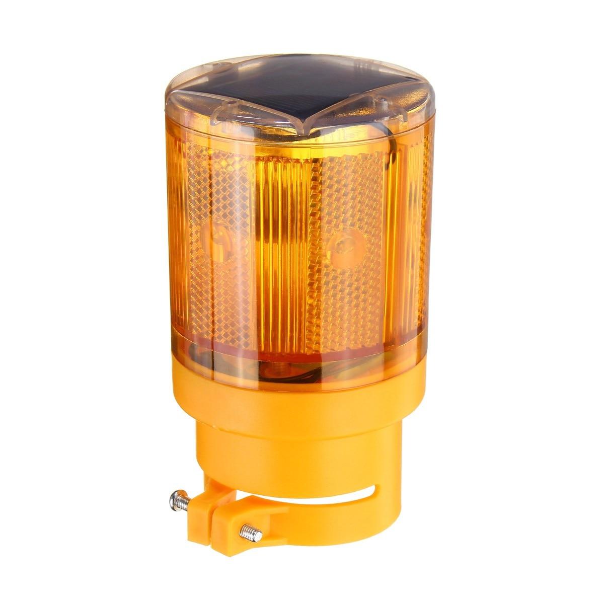 Safurance Solar Powered LED Traffic Strobe Warning Lights Flicker Beacon Road Sign Lamp Roadway Safety цена и фото