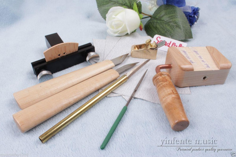 violin tools Brass Planes violin bridge knife clamp needle file sand paper #319 thumb brass maple blackwood convex bottom planes violin making woodworking tool luthiertools craft plane