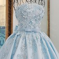 LS67128 oriental elegante vestido de noite de cetim azul strapless appliqued lace elegantes vestidos longos para festa de casamento imagem real