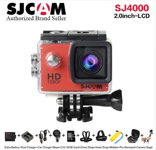 Sjcam Sj4000 Sport Action Kamera Dv 2,0 Zoll Tauchen 30 Mt Wasserdichte Hd 1080 P Extreme Helm Mini Camcorder Original Sj 4000 Cam Sport & Action-videokameras