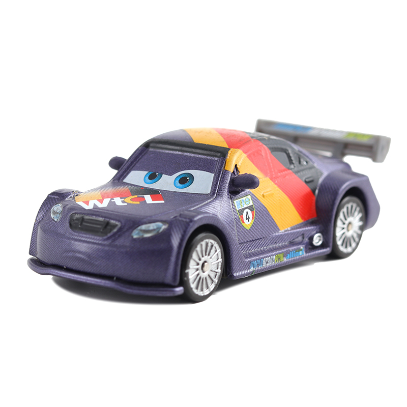 Disney Cars 3 Pixar Cars 2 Max Schnell Metal Diecast Toy Car 1:55 Lightning McQueen Boy Gift Girl Free Shipping