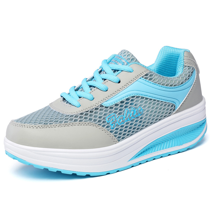 Women Casual Shoes Air Mesh Summer Women Shoes Lightweight Lace Up Breathable Zapatos mujer Blue women shoes casual shoes lightweight summer beach flats shoes women loafers breathable air mesh zapatos mujer tenis feminino u1