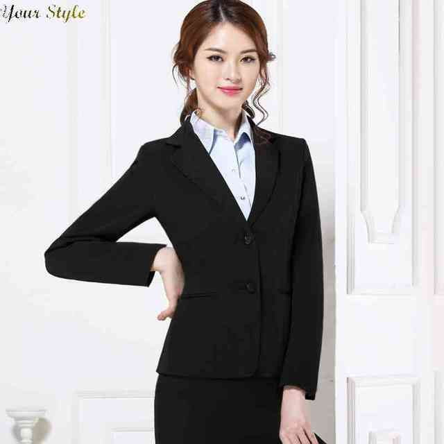 31e319385c7 Free Shipping business interview suit women uniform professional slim Ladys  clothing set 1438734857