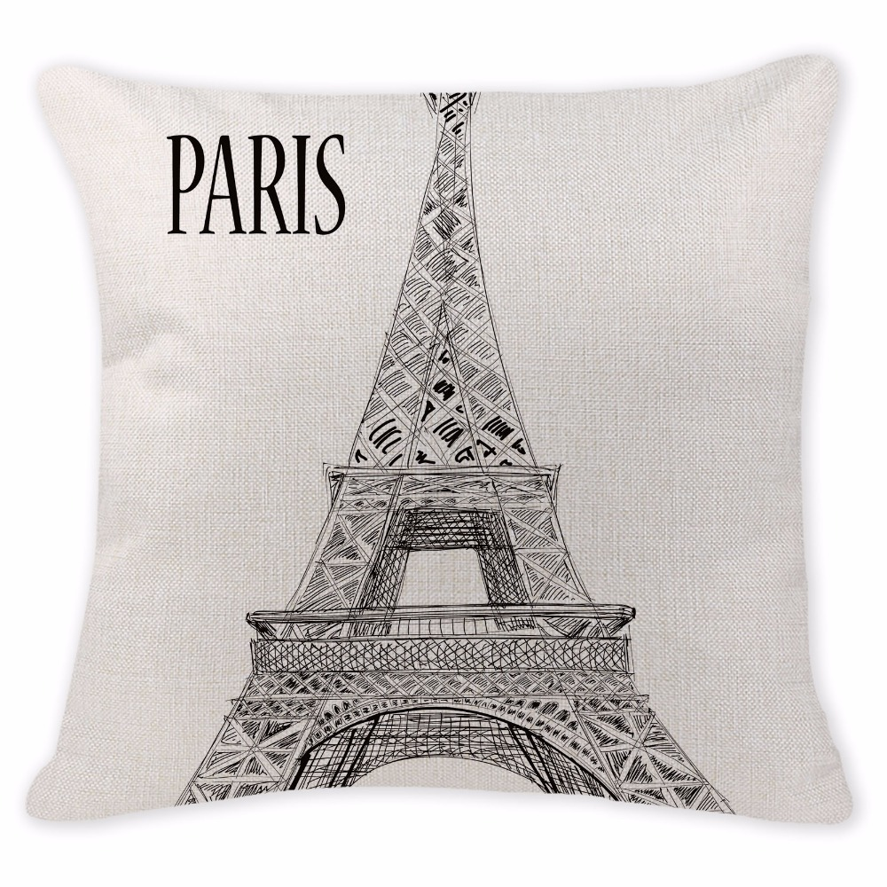 Custom Throw Pillow Cover 3D Cushion Linen Cotton Dog Cushion Cover  Decorative Home 45X45CM Square Cushion