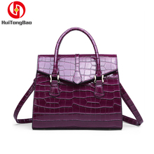 Women Genuine Leather Crocodile Lady Handbag Fashion Shoulder Bag purses luxury handbags women bags designer