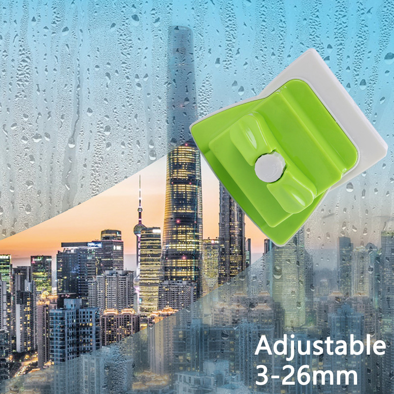 Adjustable Magnetic Window Cleaners With Double Side Magnetic Cleaning Brush 3-26mm