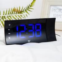Projection 4 Alarm Sounds 9 Min Snooze Function Sleep Timer For Home Office Bedroom Digital FM Radio Alarm Clock