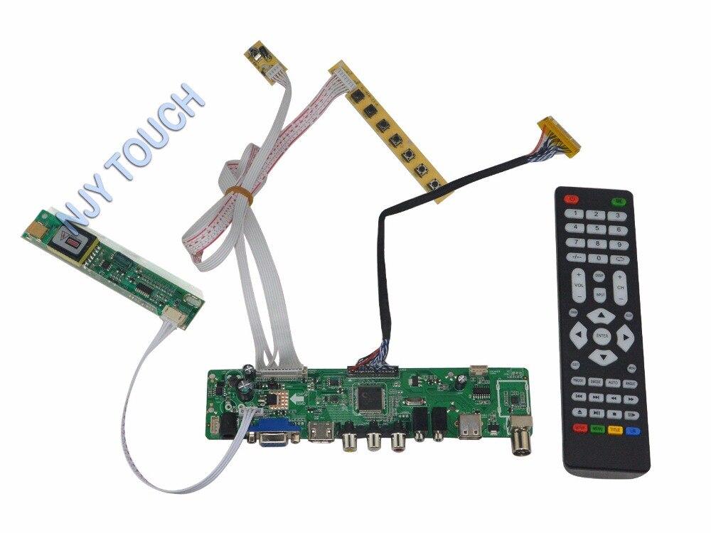 HDMI USB AV VGA ATV LCD Controller Board kit for LQ170M1LA04 LQ170M1LA4B 1920x1200 Panel xilinx fpga development board xilinx spartan 3e xc3s250e evaluation board kit lcd1602 lcd12864 12 modules open3s250e package b