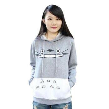 цена на Hot Sale Autumn Fashion Men Women Cartoon Totoro Hoodie Sweatshirt Unisex Pullover Sweatshirt Spring Casual Coat Hoodies Hooded
